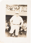 Autographs:Bats, 1922 Babe Ruth Original News Photograph by Bain, PSA/DNA Type 1. ...