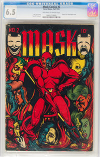 Mask Comics #2 (Rural Home, 1945) CGC FN+ 6.5 Off-white to white pages