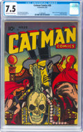 Golden Age (1938-1955):Superhero, Cat-Man Comics #28 (Continental, 1945) CGC VF- 7.5 Off-white to white pages....