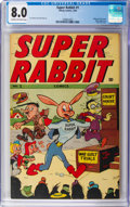 Golden Age (1938-1955):Cartoon Character, Super Rabbit #1 (Timely, 1944) CGC VF 8.0 Cream to off-white pages....