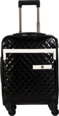 """Luxury Accessories:Travel/Trunks, Chanel Black Quilted Leather Rolling Suitcase. Condition: 2. 14"""" Width x 18"""" Height 9"""" Depth. ..."""