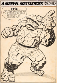"Jack Kirby and Chic Stone Strange Tales #127 ""The Thing"" Pin-Up Original Art (Marvel, 1964)"