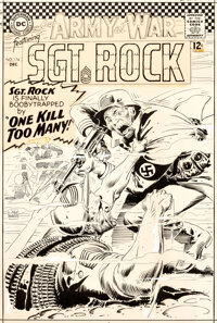 Joe Kubert Our Army At War #174 Cover Sgt. Rock Original Art (DC, 1966)