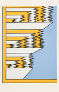 Prints & Multiples, Nicholas Krushenick (1929-1999). Untitled 9, 1979. Serigraph in colors on wove paper. 40 x 26-1/4 inches (101.6 x 66.7 c...