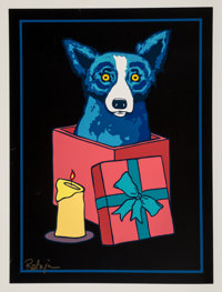 George Rodrigue (1944-2013) Jingle My Bells at Night, 1999 Screenprint in colors on paper 30 x 22