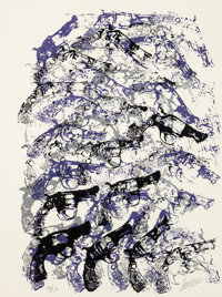 Arman (1928-2005) Royal Guns, 1979 Serigraph in colors on Arches paper 30 x 22 inches (76.2 x 55.9 cm) (sheet) Ed. 7