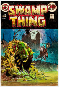 Bernie Wrightson Swamp Thing #4 Cover Color Guide (DC Comics, 1973)