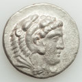 Ancients:Greek, Ancients: MACEDONIAN KINGDOM. Alexander III the Great (336-323 BC). AR tetradrachm (29mm, 16.45 gm, 6h). NGC Choice XF, roughness....