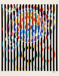 Prints & Multiples, Yaacov Agam (b. 1928). Message of Peace, from Official Arts Portfolio of the XXIVth Olympiad, Seoul, Korea, 1988. Se...