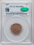 Indian Cents, 1887 1C MS64 Red and Brown PCGS. CAC. Eagle Eye Photo Seal. PCGS Population: (294/60). NGC Census: (146/64). CDN: $205 Whsl...