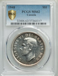 Canada, George VI Dollar 1948 MS62 PCGS,...