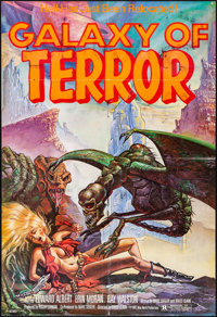 """Galaxy of Terror & Other Lot (New World, 1981). Folded, Fine/Very Fine. One Sheets (2) (27"""" X 41""""). Sc..."""
