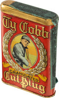 Baseball Cards:Singles (Pre-1930), Extremely Rare Ty Cobb Tobacco Tin - The Finest Example on thePlanet! ...