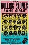 Music Memorabilia:Posters, Rolling Stones 1978 Some Girls Cardboard Promotional Poster.. ...