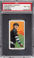 Baseball Cards:Singles (Pre-1930), 1909-11 T206 Sweet Caporal 150/649 OP George Davis (Chicago) PSA NM-MT 8 - Only Three Confirmed Overprints! ...