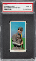 Baseball Cards:Singles (Pre-1930), 1909-11 T206 Sweet Caporal Johnny Evers (With Bat, Cubs On Shirt) PSA NM 7. ...
