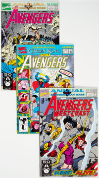 Avengers Annuals Box Lot (Marvel, 1991-92) Condition: Average NM-