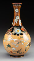 Metalwork:Japanese, A Japanese Enameled Vase. 9-3/4 x 5-1/4 inches (24.8 x 13.3 cm). PROPERTY FROM A BEVERLY HILLS ESTATE. ...