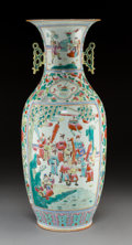 Asian:Chinese, A Chinese Famille Rose Porcelain Vase. Marks: Six-character seal. 23-1/8 inches (58.7 cm). ...