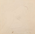 Works on Paper:Contemporary, Milton Avery (American, 1885-1965). Siesta. Oil crayon on paper. 13-3/4 x 16-3/4 inches (34.9 x 42.5 cm) (sheet). Signed...