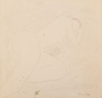 Milton Avery (American, 1885-1965) Siesta Oil crayon on paper 13-3/4 x 16-3/4 inches (34.9 x 42.5