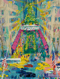LeRoy Neiman (American, 1921-2012) View from Saks, 1995 Serigraph in colors on paper 27-5/8 x 20-
