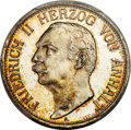 German States: Anhalt-Dessau. Friedrich II Proof 3 Mark 1911-A PR65 Cameo PCGS
