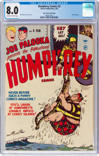 Humphrey Comics #3 Mile High Pedigree (Harvey, 1949) CGC VF 8.0 Off-white to white pages