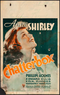 """Movie Posters:Comedy, Chatterbox (RKO, 1936). Fine-. Window Card (14"""" X 22""""). Comedy.. ..."""
