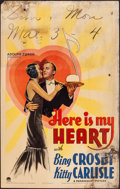 "Movie Posters:Musical, Here Is My Heart (Paramount, 1934). Fine. Window Card (14"" X 22""). Musical.. ..."