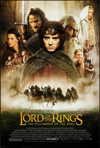 """The Lord of the Rings: The Fellowship of the Ring (New Line, 2001). Rolled, Very Fine+. One Sheet (27"""" X 40"""")..."""