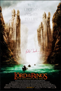 "The Lord of the Rings: The Fellowship of the Ring (New Line, 2001). Rolled, Very Fine+. Autographed One Sheet (27""..."