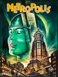 """Metropolis & Other Lot (ZigZag, 1990s). Rolled, Very Fine+. German Commercial Posters (2) (Approx. 27"""" X 36..."""