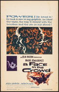 "Movie Posters:Drama, A Face in the Crowd (Warner Brothers, 1957). Fine/Very Fine. WindowCard (14"" X 22""). Drama.. ..."