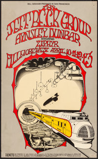 """The Jeff Beck Group at the Fillmore (Bill Graham Presents, 1969). Very Fine-. Concert Poster (13"""" X 21.25"""") Ra..."""