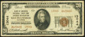 National Bank Notes:California, San Francisco, CA - $20 1929 Ty. 2 Bank of America National Trust & Savings Assoc Ch. # 13044 Fine-Very Fine.. ...