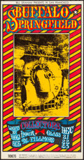 "Movie Posters:Rock and Roll, Buffalo Springfield at the Fillmore (Bill Graham Presents, 1967). Very Fine-. 1st Printing B Concert Poster (11"" X 21"") Alto..."