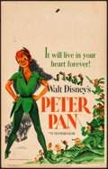 "Movie Posters:Animation, Peter Pan (RKO, 1953). Fine+. Window Card (14"" X 22""). Animation.. ..."