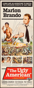 """Movie Posters:Drama, The Ugly American (Universal, 1963). Folded, Very Fine-. Insert(14"""" X 36""""). Drama.. ..."""
