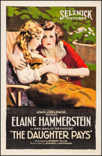 """The Daughter Pays (Select, 1920). Fine/Very Fine on Linen. One Sheet (27"""" X 41""""). Drama"""