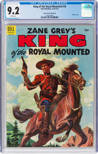 King of the Royal Mounted #18 Mile High Pedigree (Dell, 1955) CGC NM- 9.2 White pages