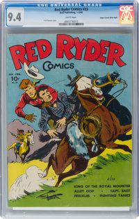 Red Ryder Comics #23 Mile High Pedigree (Dell, 1945) CGC NM 9.4 White pages