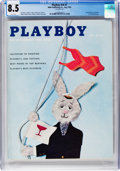 Magazines:Vintage, Playboy V6#7 (HMH Publishing, 1959) CGC VF+ 8.5 White pages....