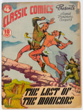 Golden Age (1938-1955):Classics Illustrated, Classic Comics #4 The Last of the Mohicans - Original Edition (Gilberton, 1942) Condition: GD/VG....