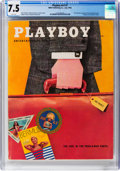 Magazines:Vintage, Playboy V3#7 (HMH Publishing, 1956) CGC VF- 7.5 White pages....