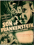 """Movie Posters:Horror, Son of Frankenstein (Universal, 1939). Folded, Very Fine-. Herald (Closed: 8.5"""" X 11"""", Open: 17"""" X 11"""").. ..."""