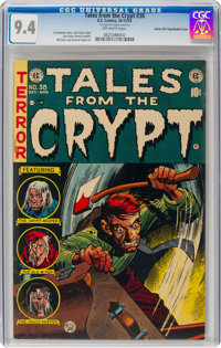 Tales From the Crypt #38 Gaines File Pedigree 12/12 - Double Cover (EC, 1953) CGC NM 9.4 Off-white pages