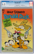 Golden Age (1938-1955):Cartoon Character, Four Color #199 Donald Duck (Dell, 1948) CGC FN+ 6.5 Off-white to white pages....