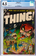 Golden Age (1938-1955):Horror, The Thing! #13 (Charlton, 1954) CGC VG+ 4.5 Off-white to white pages....
