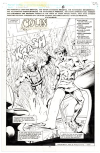 Alan Davis and Mark Farmer Excalibur #46 Splash Page 6 Original Art (Marvel, 1992)